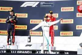 Lewis Hamilton - Max Verstappen - Kimi Raikkonen winners at French GP F1/2018
