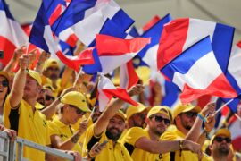 Renault fans in the grandstand. French Grand Prix, Sunday 24th June 2018. Paul Ricard, France.