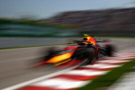 Max Verstappen of Red Bull on track during practice for the Canadian Formula One Grand Prix at Circuit Gilles Villeneuve 2018 in Montreal, Canada.