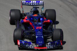 Brendon Hartley driving the (28) Scuderia Toro Rosso STR13 Honda on track during practice for the Canadian Formula One Grand Prix 2018