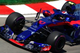 Pierre Gasly of France and Scuderia Toro Rosso driving the (10) Scuderia Toro Rosso STR13 Honda on track during practice for the Canadian Formula One Grand Prix 2018