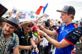 Brendon Hartley of Scuderia Toro Rosso during previews ahead of the Formula One Grand Prix of France at Circuit Paul Ricard on June 21, 2018 in Le Castellet, France.