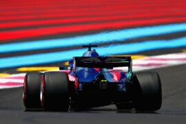 Brendon Hartley driving the (28) Scuderia Toro Rosso STR13 Honda on track during practice for the Formula One Grand Prix of France at Circuit Paul Ricard.