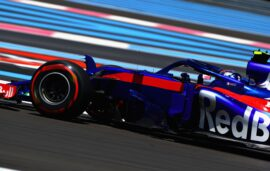 Pierre Gasly driving the (10) Scuderia Toro Rosso STR13 Honda on track during practice for the Formula One Grand Prix of France at Circuit Paul Ricard 2018
