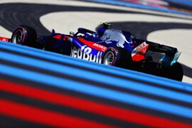 Pierre Gasly of France and Scuderia Toro Rosso driving the (10) Scuderia Toro Rosso STR13 Honda on track during practice for the Formula One Grand Prix of France at Circuit Paul Ricard on June 22, 2018 in Le Castellet, France.
