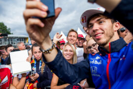 SPIELBERG, AUSTRIA - JUNE 28: Pierre Gasly of Scuderia Toro Rosso and France during previews ahead of the Formula One Grand Prix of Austria at Red Bull Ring on June 28, 2018 in Spielberg, Austria.