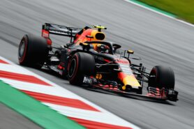 Max Verstappen driving the (33) Red Bull RB14 TAG Heuer in Austria at the Red Bull Ring (2018)