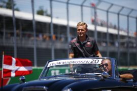 Kevin Magnussen Haas driver parade Canadian GP F1/2018