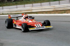Niki-Lauda-in-the-Ferrari-312T2-2nd-place