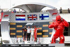 Podium France 2018: 1. Hamilton, 2. Verstappen, 3. Raikkonen
