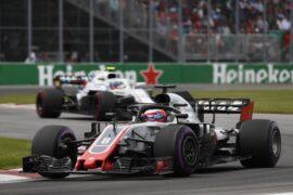 Romain Grosjean Haas on track Canadian GP F1/2018