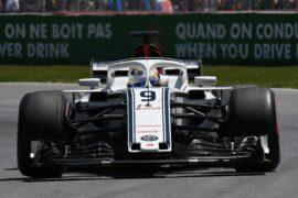 Marcus Ericsson (SWE) Alfa Romeo Sauber C37 at Formula One World Championship, Rd7, Canadian Grand Prix, Qualifying, Montreal, Canada 2018.