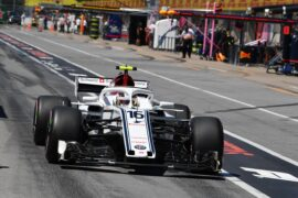 Charles Leclerc (MON) Alfa Romeo Sauber C37 at Formula One World Championship, Rd7, Canadian Grand Prix, Qualifying, Montreal, Canada 2018.