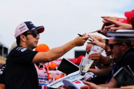 Sergio Perez (MEX) Sahara Force India F1 signs autographs for the fans. French Grand Prix, Thursday 21st June 2018. Paul Ricard, France.