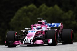 Sergio Perez (MEX) Sahara Force India F1 VJM11. Austrian Grand Prix 2018
