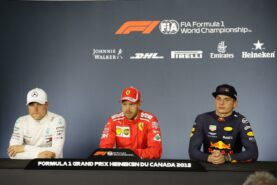 Press conference after racing in Canada 2018 with Bottas, Vettel and Verstappen