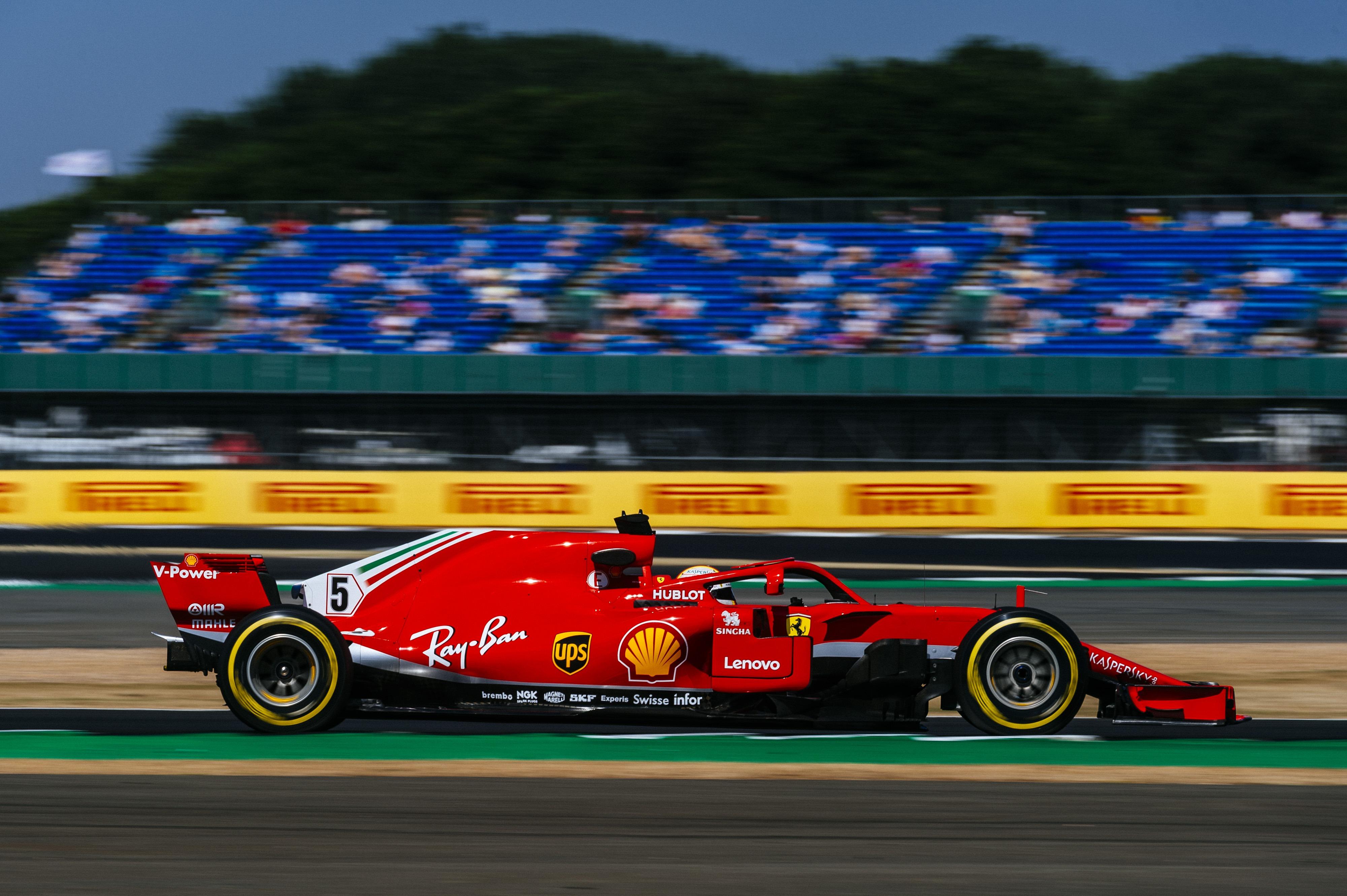 Lap times 2nd practice 2018 British F1 Grand Prix