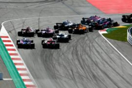 All cars going into turn 1`of the Red Bull Ring in Austra 2018 - 3
