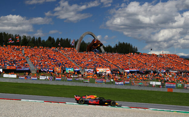 Max Verstappen driving the (33) Aston Martin Red Bull Racing RB14 TAG Heuer on track during the Formula One Grand Prix of Austria at Red Bull Ring