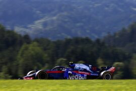 Pierre Gasly driving the (10) Scuderia Toro Rosso STR13 Honda on track during the Formula One Grand Prix of Austria at Red Bull Ring