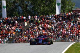 Pierre Gasly driving the (10) Scuderia Toro Rosso STR13 Honda on track during the Formula One Grand Prix of Austria