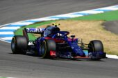 Pierre Gasly of France and Scuderia Toro Rosso driving the (10) Scuderia Toro Rosso STR13 Honda on track during practice for the Formula One Grand Prix of Germany 2018