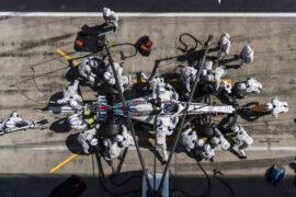 Red Bull Ring, Spielberg, Austria. Sunday 1 July 2018. Sergey Sirotkin, Williams FW41 Mercedes pitstop