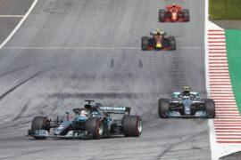 Formel 1 - Mercedes-AMG Petronas Motorsport, Großer Preis von Österreich 2018. Lewis Hamilton, Valtteri Bottas Formula One - Mercedes-AMG Petronas Motorsport, Austrian GP 2018. Lewis Hamilton, Valtteri Bottas