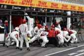 Marcus Ericsson (SWE) Alfa Romeo Sauber C37 pit stop at Formula One World Championship, Rd11, German Grand Prix, Race, Hockenheim, Germany, Sunday 22 July 2018.