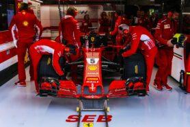 Vettel demolishes Ferrari front wing in Milan