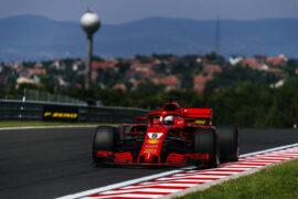 Sebastian Vettel Ferrari Hungarian GP F1/2018