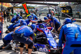 Brendon Hartley of Scuderia Toro Rosso and New Zealand during practice for the Formula One Grand Prix of Hungary at Hungaroring on July 27, 2018 in Budapest, Hungary.