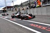 Romain Grosjean, Haas F1 Team VF-18 in pit lane during the Belgian GP at Spa-Francorchamps on August 25, 2018 in Spa-Francorchamps, Belgium.