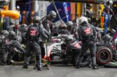 Romain Grosjean pit stop Haas Belgian GP F1/2018
