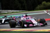 Sergio Perez (MEX) Racing Point Force India F1 VJM11. Belgian Grand Prix, Sunday 26th August 2018. Spa-Francorchamps, Belgium.