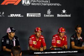 Drivers press conference 2018 Italian F1 GP part 1