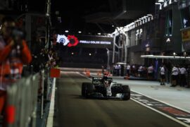 Lewis Hamilton Mercedes Singapore GP F1/2018