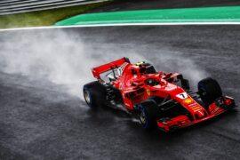 Kimi Raikkonen driving the Ferrari SF71H at Monza, Italian GP (2018)