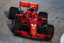 Kimi Raikkonen Ferrari Singapore GP F1/2018