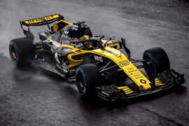 Nico Hulkenberg driving the Renault RS18 at Monza Italy (2018)