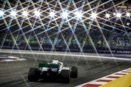 Marina Bay Circuit, Singapore 2018. Sergey Sirotkin, Williams FW41.