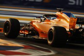 Marina Bay Circuit, Singapore 2018. Fernando Alonso, McLaren MCL33.