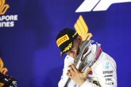 Lewis Hamilton Mercedes winner Singapore GP F1/2018