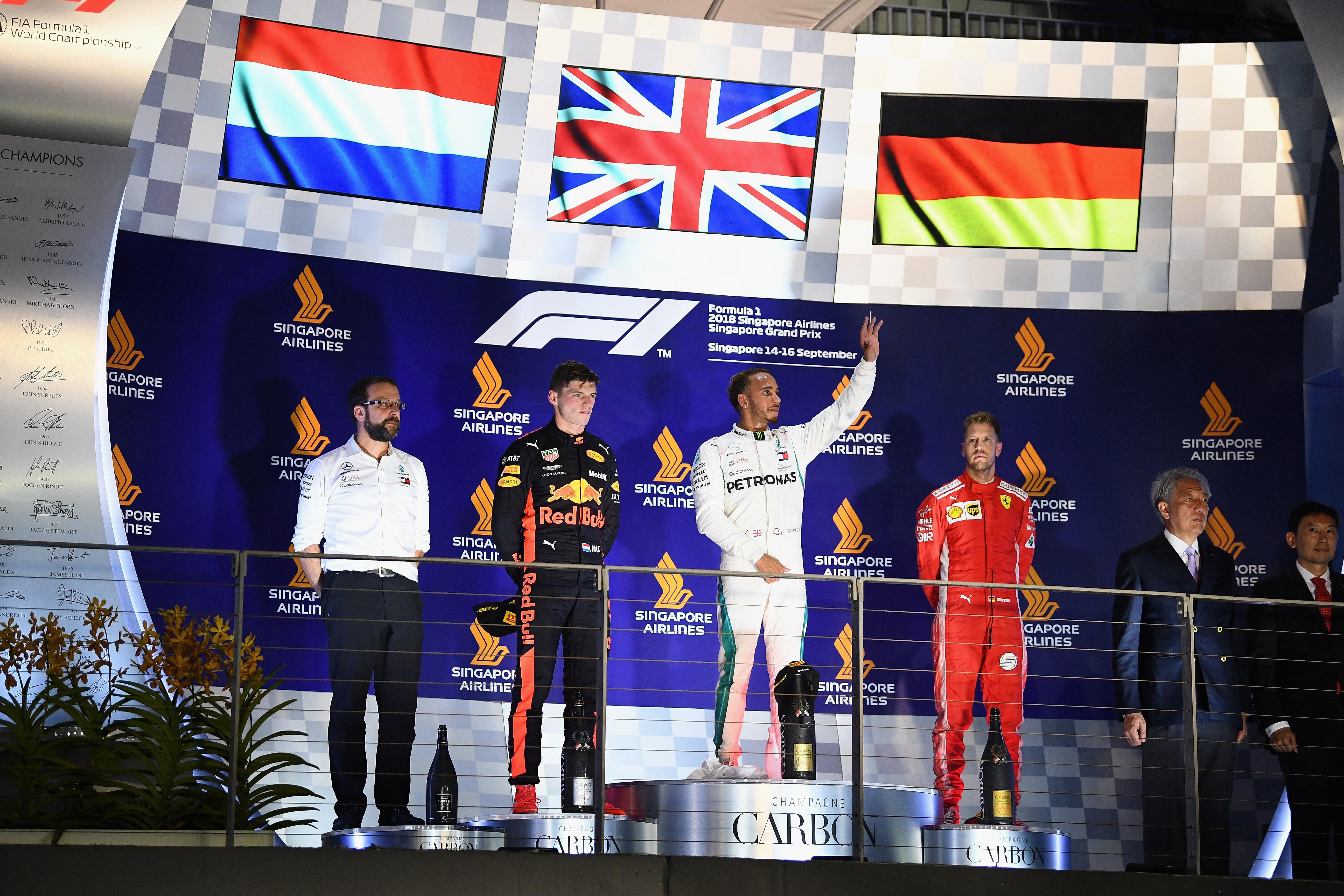 2018 Singapore Grand Prix F1 Race Results Winner Report