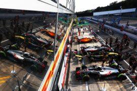 Cars on pit lane at Monza-Italian GP F1/2018