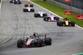 Romain Grosjean on track Italian GP F1/2018
