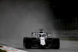 Monza, Italy. Friday 31 August 2018. Lance Stroll, Williams FW41.
