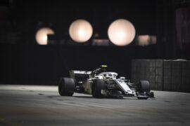 Charles Leclerc, Alfa Romeo Sauber C37 at Formula One World Championship, Rd15, Singapore Grand Prix, 2018.