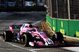 Sergio Perez (MEX) Racing Point Force India F1 VJM11. Singapore Grand Prix 2018.