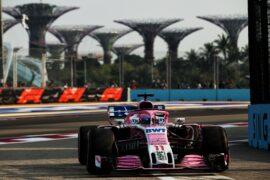 Sergio Perez (MEX) Racing Point Force India F1 VJM11. Singapore Grand Prix, Friday 14th September 2018. Marina Bay Street Circuit, Singapore.